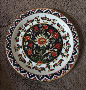 DECORATIVE PLATE HAND MADE in 24K Gold