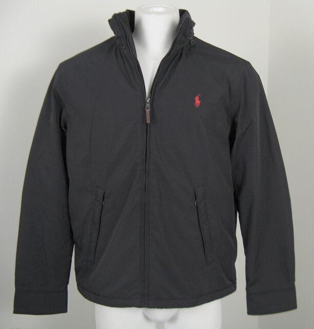 Ralph Lauren Polo Mens Fleece Lined Perry Jacket Coat Pony Black ...
