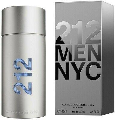 212 Men NYC By Carolina Herrera EDT Cologne 100ml / 3.4oz -- NEW SEALED BOX