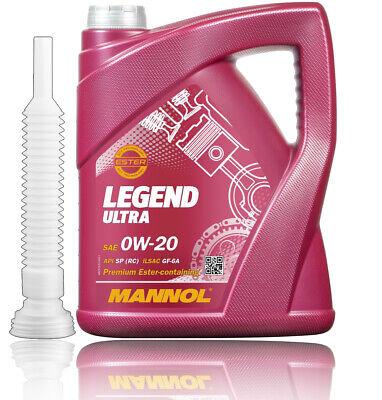 0W-20 MANNOL LEGEND ULTRA 5L API SP RC ILSAC GF-5A GM dexos1 GEN2+Einfüllhilfe