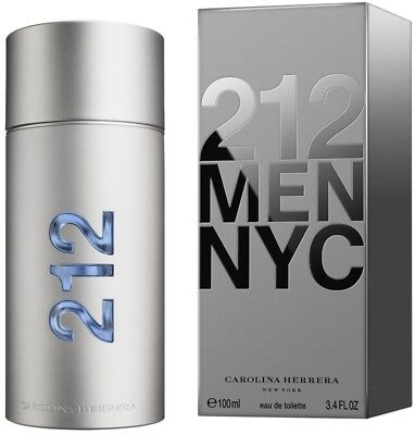 212 MEN NYC by Carolina Herrera cologne EDT 3.3 / 3.4 oz New in Box