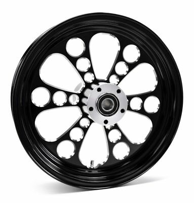 Kool Kat Black Billet Aluminum 16 3.5 Rear Wheel Rim Harley Touring Softail - Kool Kat