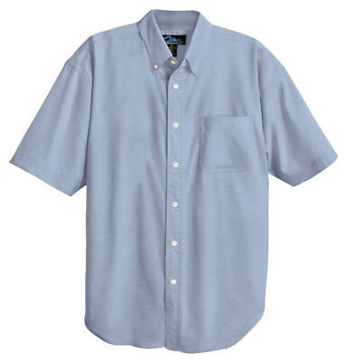 Tri Mountain Mens Retro Blended Teflon Stain Resistant Finish Oxford Shirt