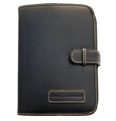 Perry Ellis Portfolio Genuine Leather Expandable Personal Organizer Planner