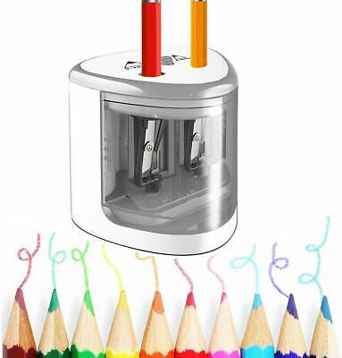 Electric Pencil Sharpener Dual Hole Battery Operated Pencil Sharpener Pencil Cut