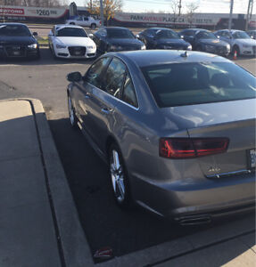 Lease Takeover- 2016 Audi A6 S-Line $619/mth plus tax!!!