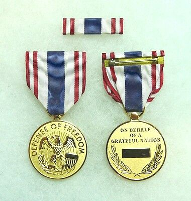 Department of Defense, Defense of Freedom Medal, Civilian Purple Heart, set of - Department Of Defense Medals