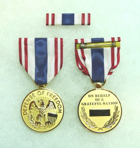 Department of Defense, Defense of Freedom Medal, civilian wound, KIA, set