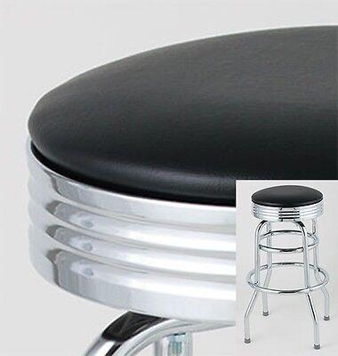 4 Classic 50's Diner Bar Stools - $74.95/ea - Black - Retro Style - New ()