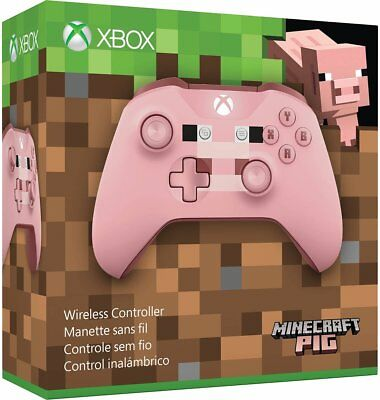 Microsoft Xbox One Wireless Controller   Pink Minecraft Pig X1  Xbox One S New
