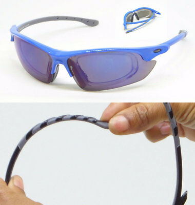 Sunglasses with Removable RX Prescription Adapter Mirrored Lens Sports (Sunglasses With Removable Lenses)