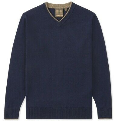 True Navy Bekleidung (Musto Knit V-Neck Wool True Navy Shooting Jumper)
