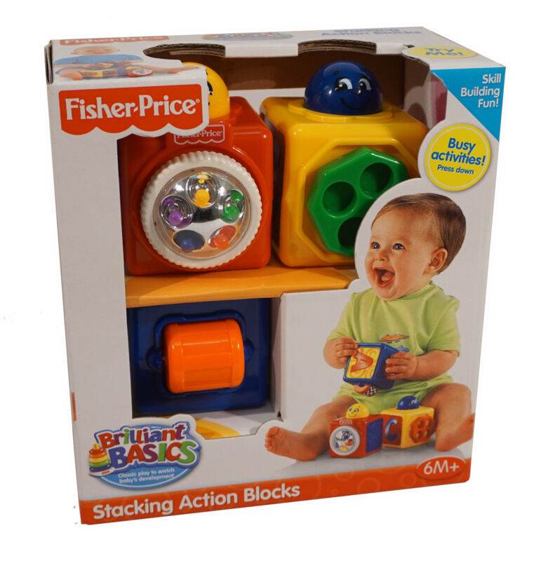 Brilliant Basics Stacking Action Blocks: Classic Play to help baby