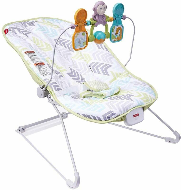 Fisher-Price DTG94 Deluxe Bouncer: Green/Blue/Grey BOX DAMAGE