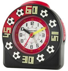 JACQUES FAREL Kids' Alarm Clock Analog Quartz Football Boys Acw 31 Black