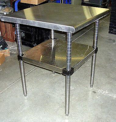 Metro Stainless Steel Work Prep  Table 30 Sq. Adjustable