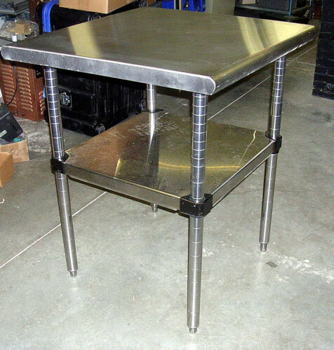 "METRO STAINLESS STEEL TABLE 30"" Sq. ADJUSTABLE"