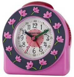 JACQUES FAREL Kids' Alarm Clock Analog Quartz Flower Girls Acw 301 Pink