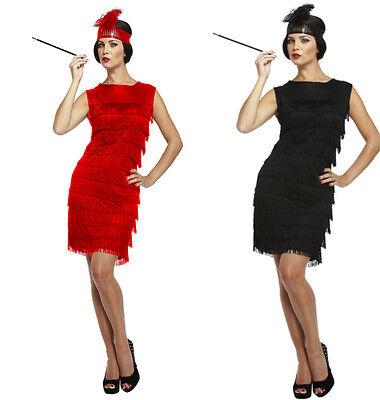 ADULT LADIES FLAPPER 1920s 20's CHARLESTON GREAT GATSBY FANCY DRESS COSTUME (Great Fancy Dress Kostüme)