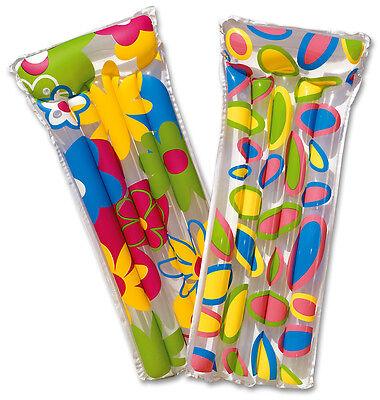 1 x Komfort-Luftmatratze Deluxe Blumen 183x76 cm Wasserliege Matratze Badespaß
