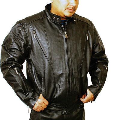 Ultimate Pig Nap Leather Vented Scooter Biker Fashion Jacket PN -