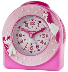 JACQUES FAREL Kids' Alarm Clock Analog Quartz Unicorn Girls Acw 50 Pink