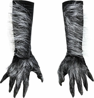 Morris Costumes Adult Unisex Werewolf Hands Fur Gloves Gray One Size. 1015GBS