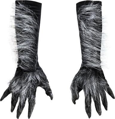 Morris Costumes Adult Unisex Werewolf Hands Fur Gloves Gray One Size. 1015GBS - Werewolf Hands