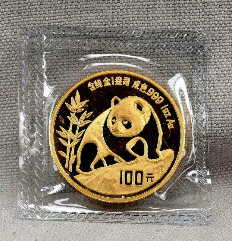 China 1990 100 Yuan 1 Ounce Panda .999 Fine GOLD Coin! Mint Sealed!