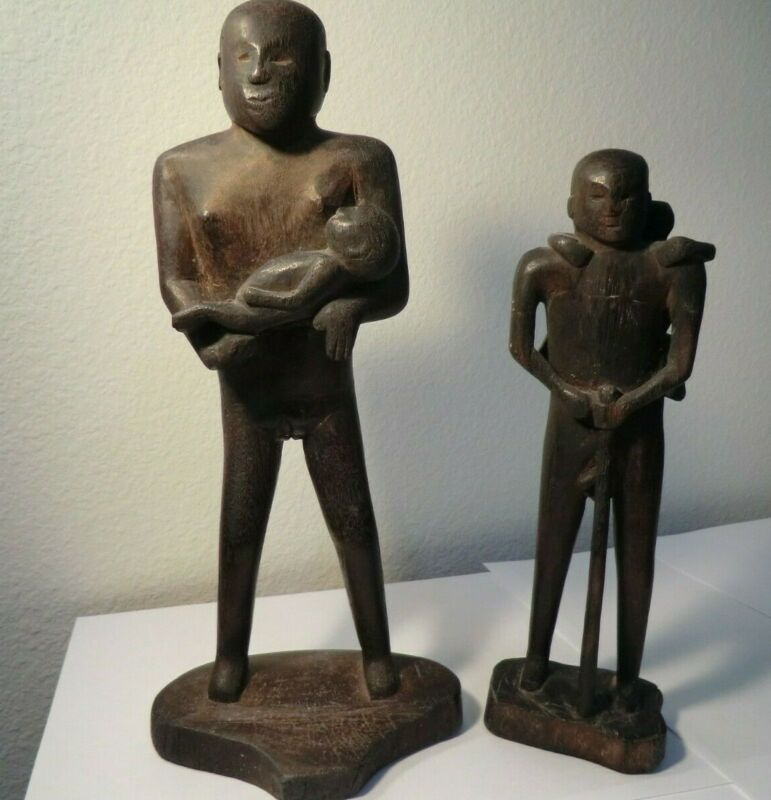 Wood Carving Borneo Dayak Statue/ Figure Vintage Fertility Charm/Amulet