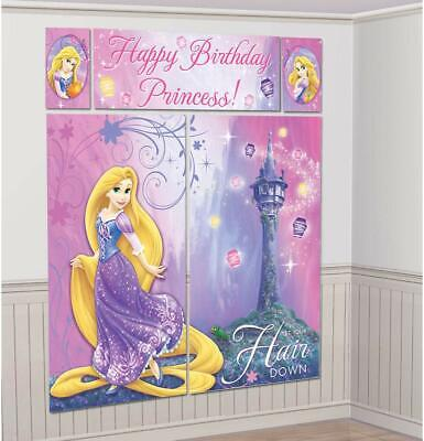Tangled Birthday Party Decorations (Tangled Rapunzel Princess Happy Birthday Party Scene Setter Wall Decorating)