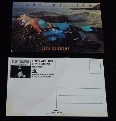 Lenny Williams-Love Current-ORIGINAL 1979 MCA Records PROMO Postcards-Lot of 2!
