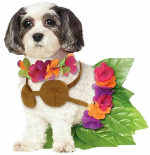Rubies Hula Girl Luau Hawaiian Flowers Skirt Pets Dogs Halloween Costume