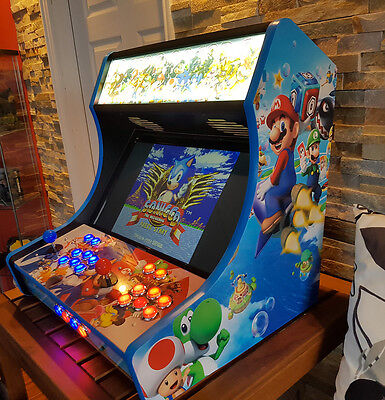 Bartop Arcade Kit Bundle, Sanwa, LED Buttons, USB Encoder - Easy Assembly -USA