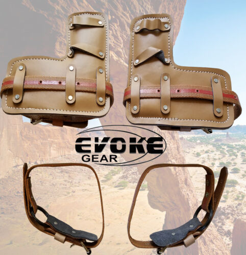 Tree Climbing Spike/ Spur Pair Leather Pads And Straps/Belts Replacement New