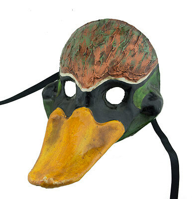 Mask Fancy Duck Neckband Green in Paper Mache - 2167 -GAR9