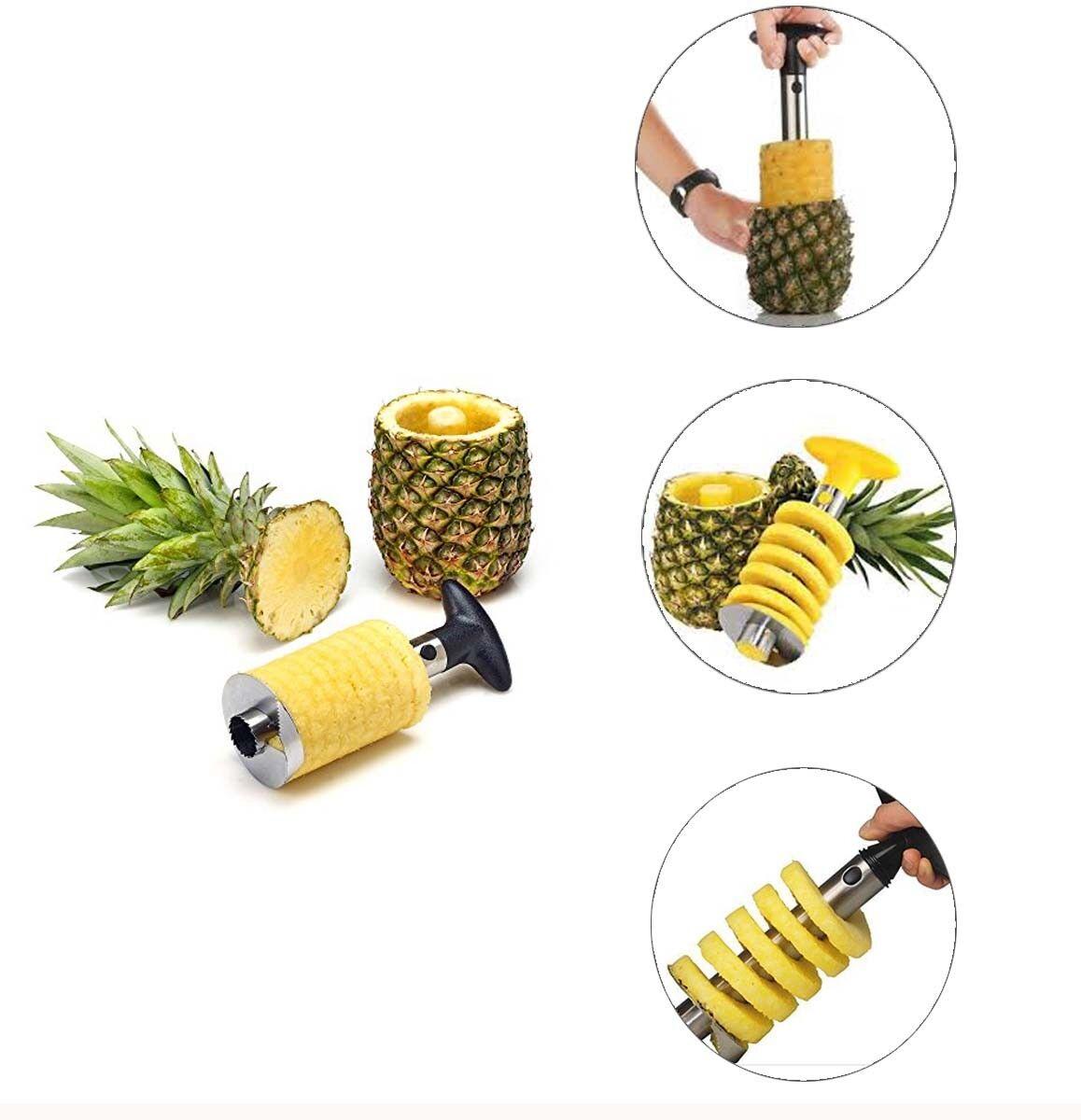 Pineapple Slicer Fruit Cutter Easy Kitchen Tool  Peeler USA BEST QUALITY