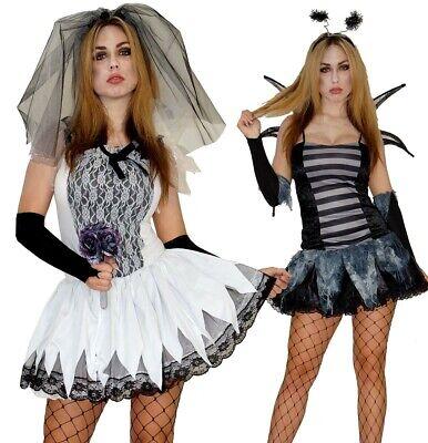 Halloween Kostüm Zombie Braut Fledermaus Damen Sexy Gr. S M - Zombie Kostüm