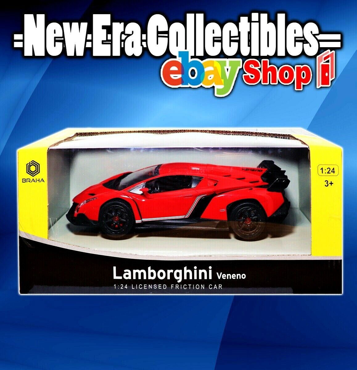 Braha Lamborghini Sesto Elemento 1 24 Scale Licensed Friction Car Red New Diecast Toy Vehicles Cars Trucks Vans