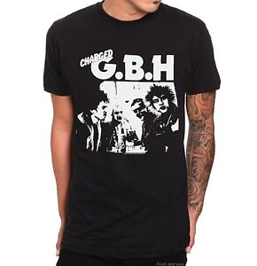 Charged GBH Live Logo Vintage hardcore punk rock T-Shirt M XL 2XL 3XL 4XL NWT