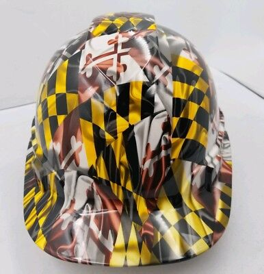 Hard Hat Custom Hydro Dipped Osha Approved Maryland State Flag Cap Style Sick