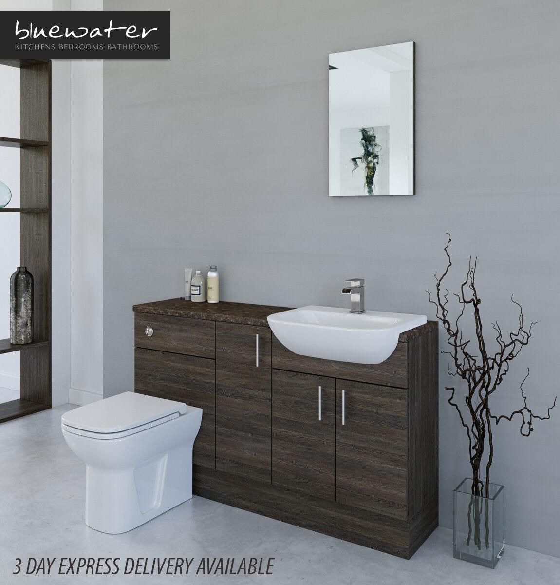 Fitted Bathroom Furniture Manufacturers: MALI WENGE BATHROOM FITTED FURNITURE 1400MM