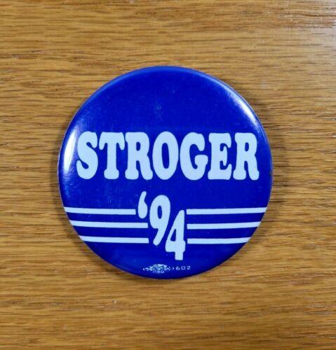 JOHN STROGER 1994 Political Campaign Illinois Vote Badge Pinback Pin Button