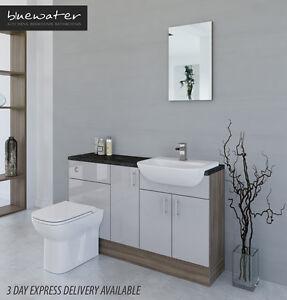 Elegant Bathcabz  Bathroom Fitted Furniture  Grey Brown Furniture