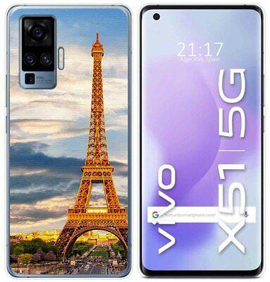 Cover Gel TPU Per Vivo X51 5G Disegno Paris Disegni