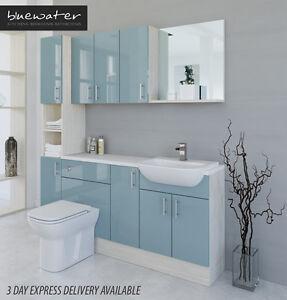 Duck egg blue white avola bathroom fitted furniture for Duck egg blue bathroom ideas