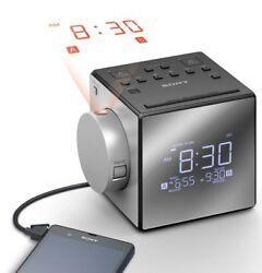 ICF-C1PJ Sony AM/FM Clock Radio ICF C1PJ Dual Alarm FM/AM USB Port W/ Projection