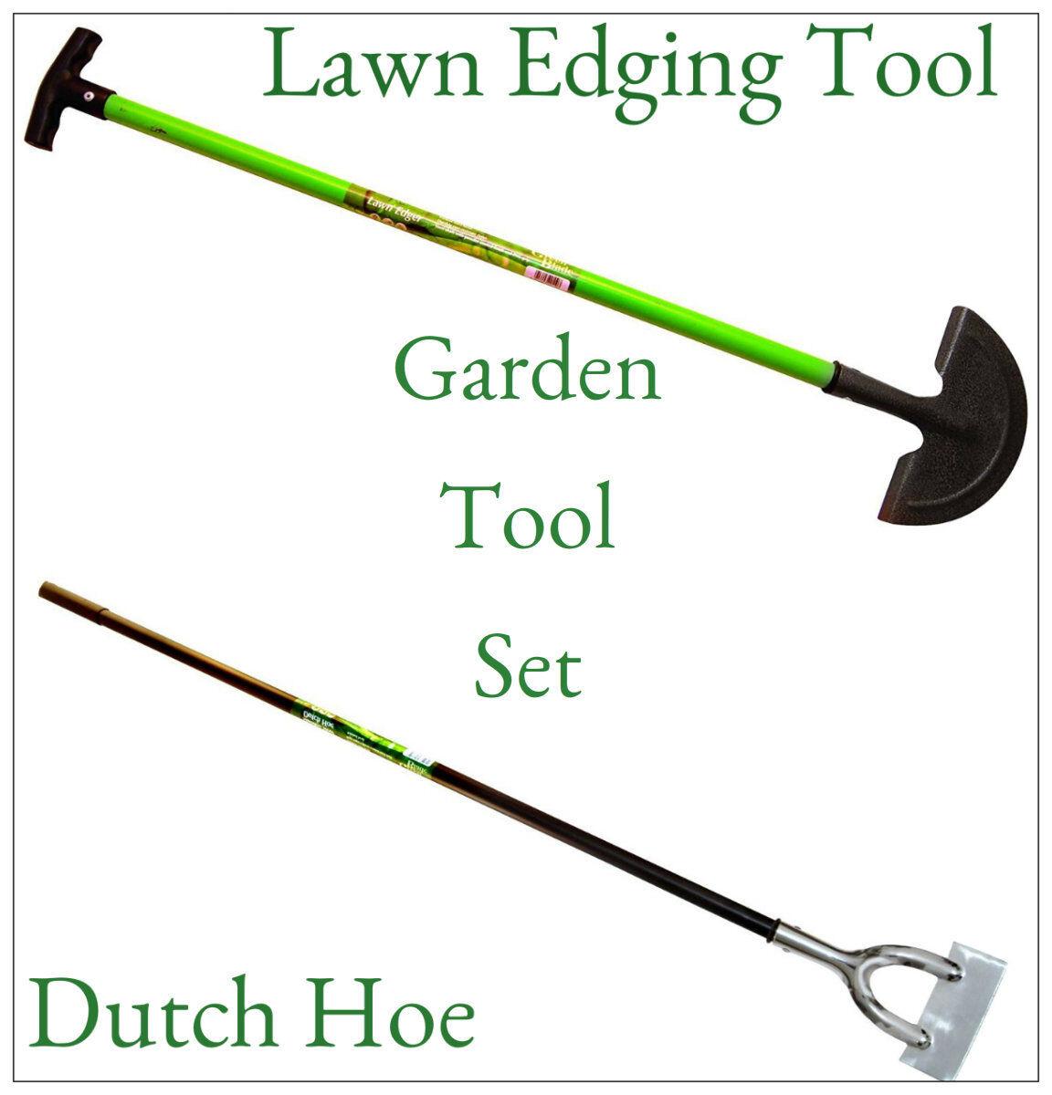 Heavy duty garden lawn edger dutch hoe garden tool set for Heavy duty garden tools