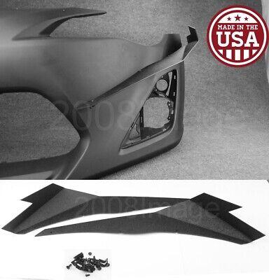 V3 Pair Black ABS Front Bumper Lip Canard Splitter Diffuser For 13-16 Scion FRS