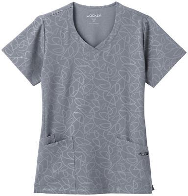 - Jockey Scrubs Women's Solid Illusion Teardrop Pattern V-Neck Scrub Top. 2337